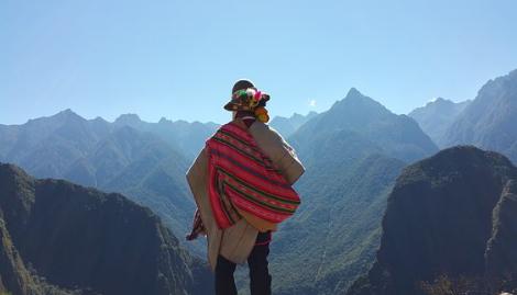 Munay Ki Shaman in the mountains