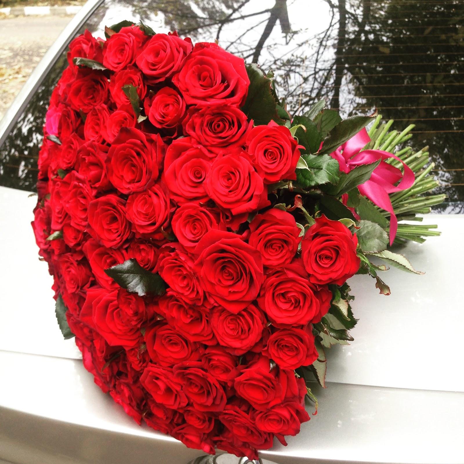 Букет 101 роза красная Престиж 80 см - Роза 21