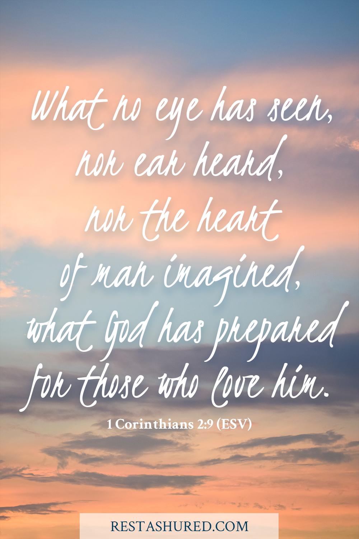Photo of Bible Verse for 1 Corinthians 2:9