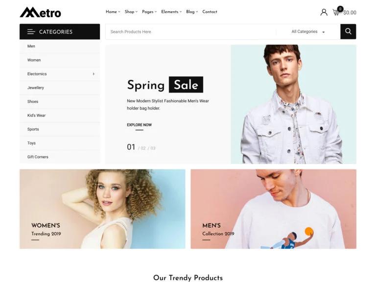 Wordpress ecommerce themes metro