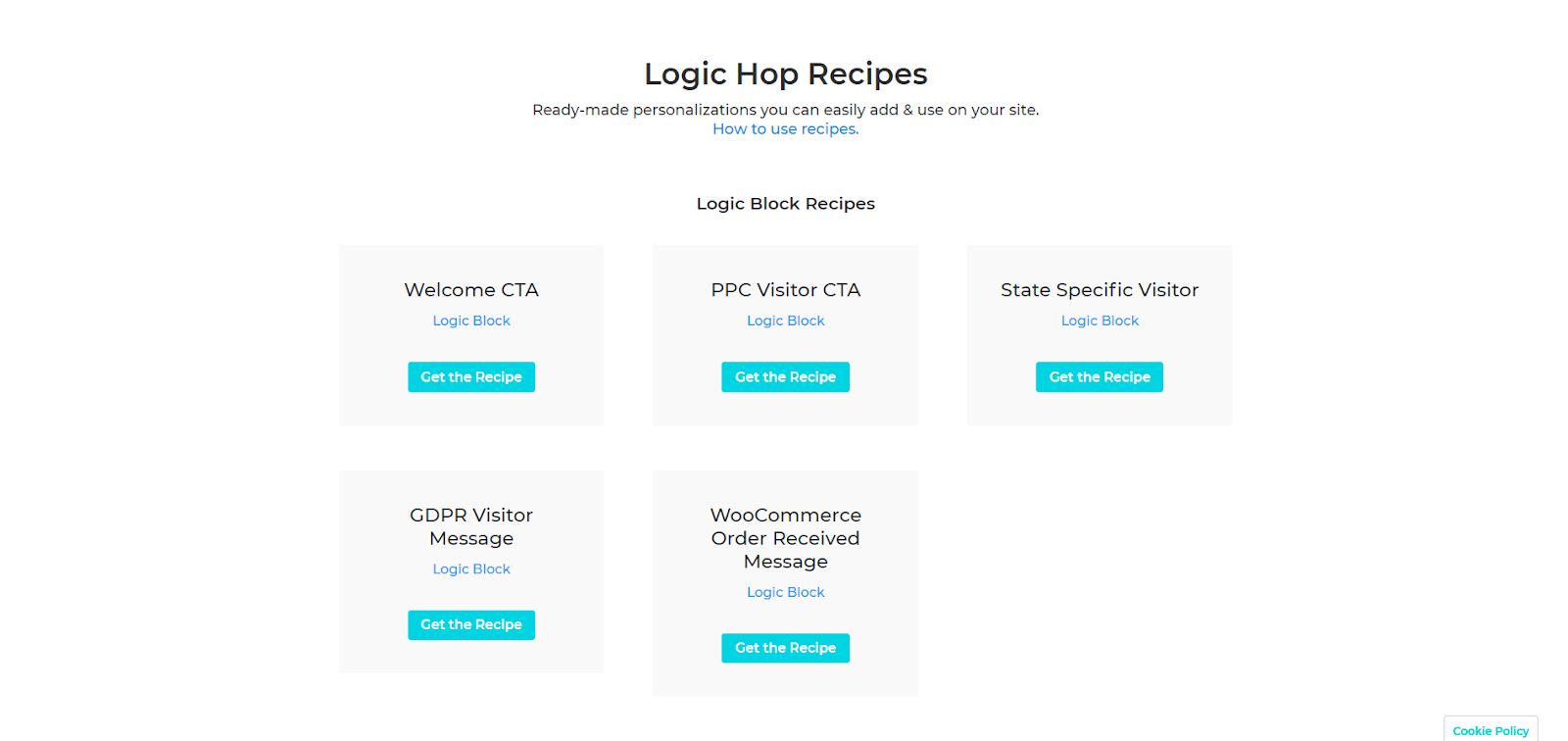Logic Hop REcipes