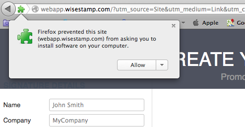 WiseStamp extension install