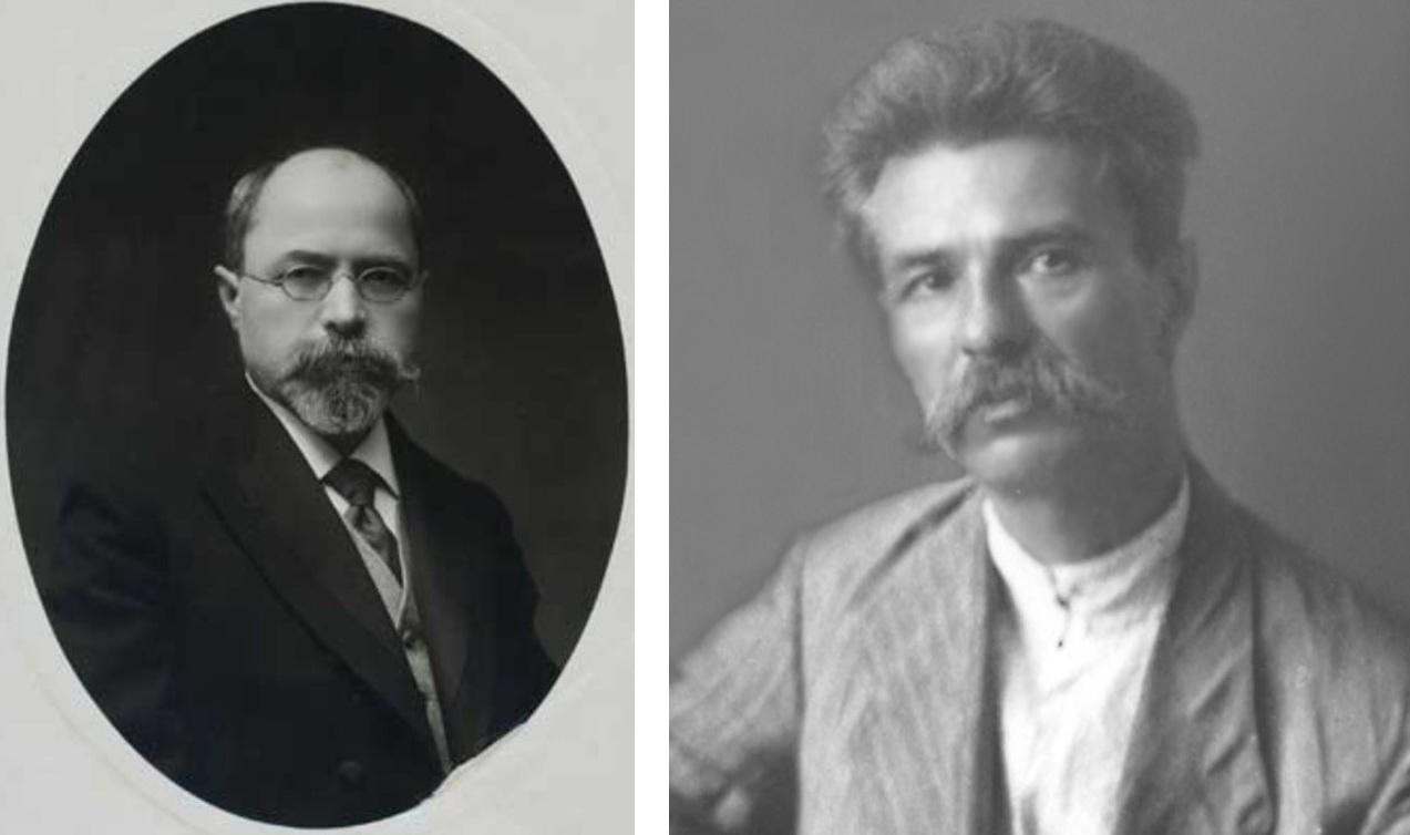 Петро Стебницький (ліворуч) та Сергій Єфремов