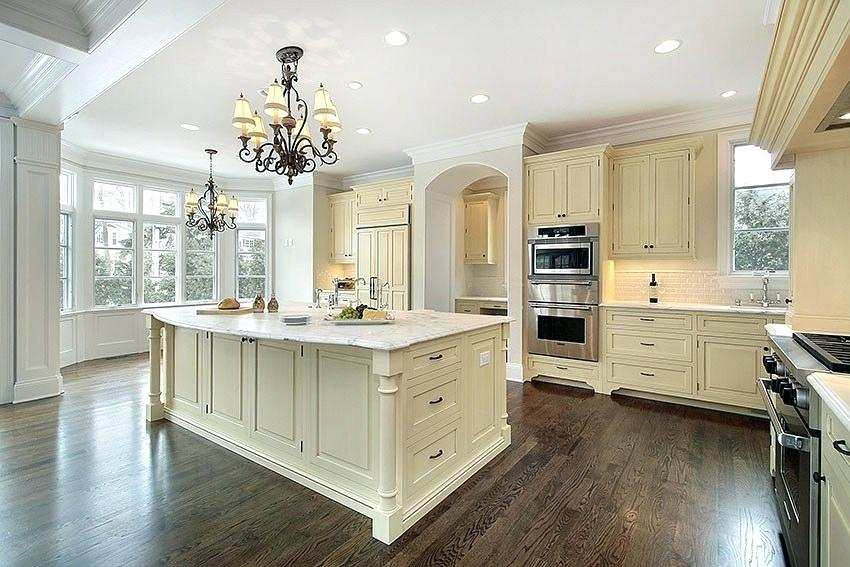 cream-colored cabinets