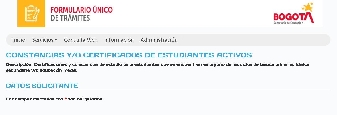 Sacar certificados de estudios del colegio a estudiantes activos en Colombia