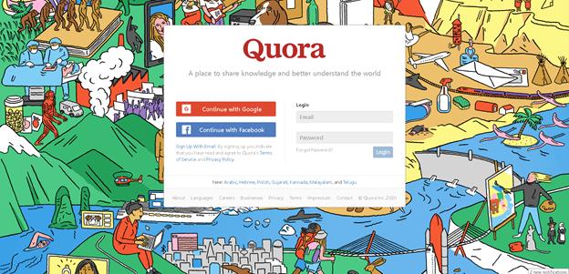 quora content promotion öffentliche frage-antwort-plattform