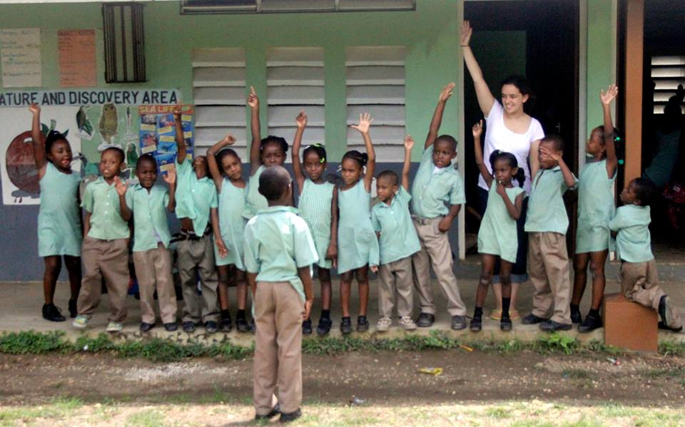 Students in Jamaica
