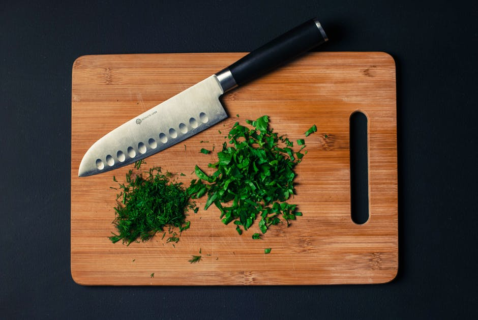 chopped, chopping board, cooking