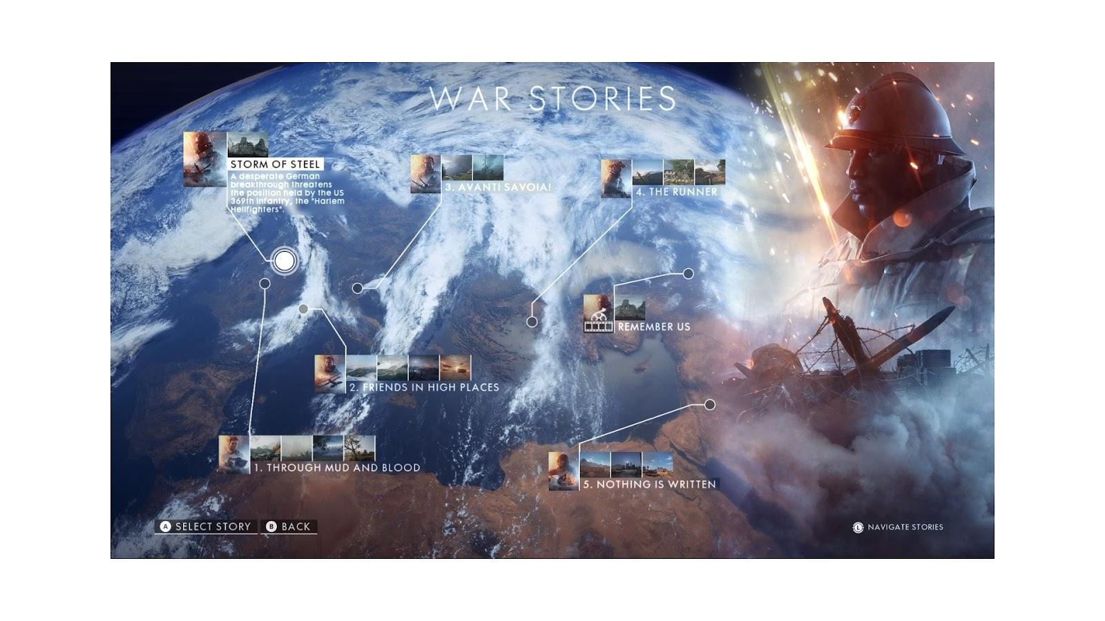 battlefield 1 campaign review war story menu