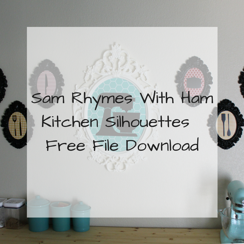 Kitchen Silhouette Wall Art: Free File Download