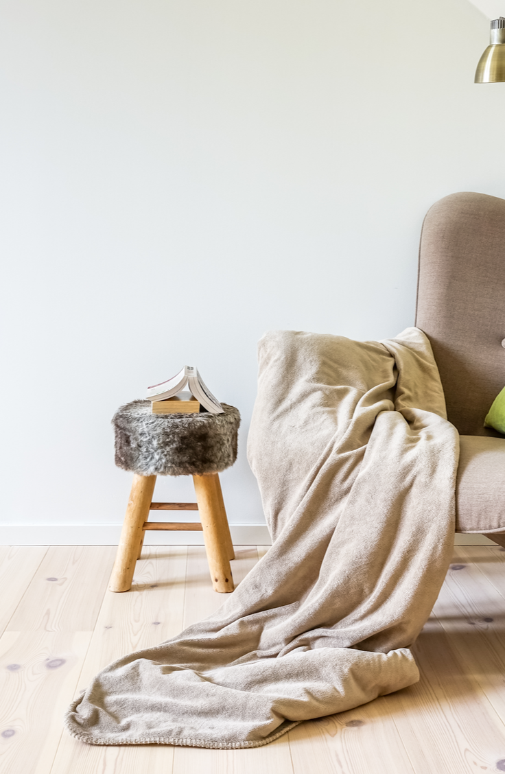 "It can be tricky figuring out how to store and organize blankets, but these tips and tricks should help. You can designate the chair in your room to always have a blanket ""thrown"" on it."