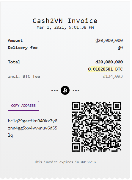 Cash2VN - now exclusively supporting Native SegWit address format
