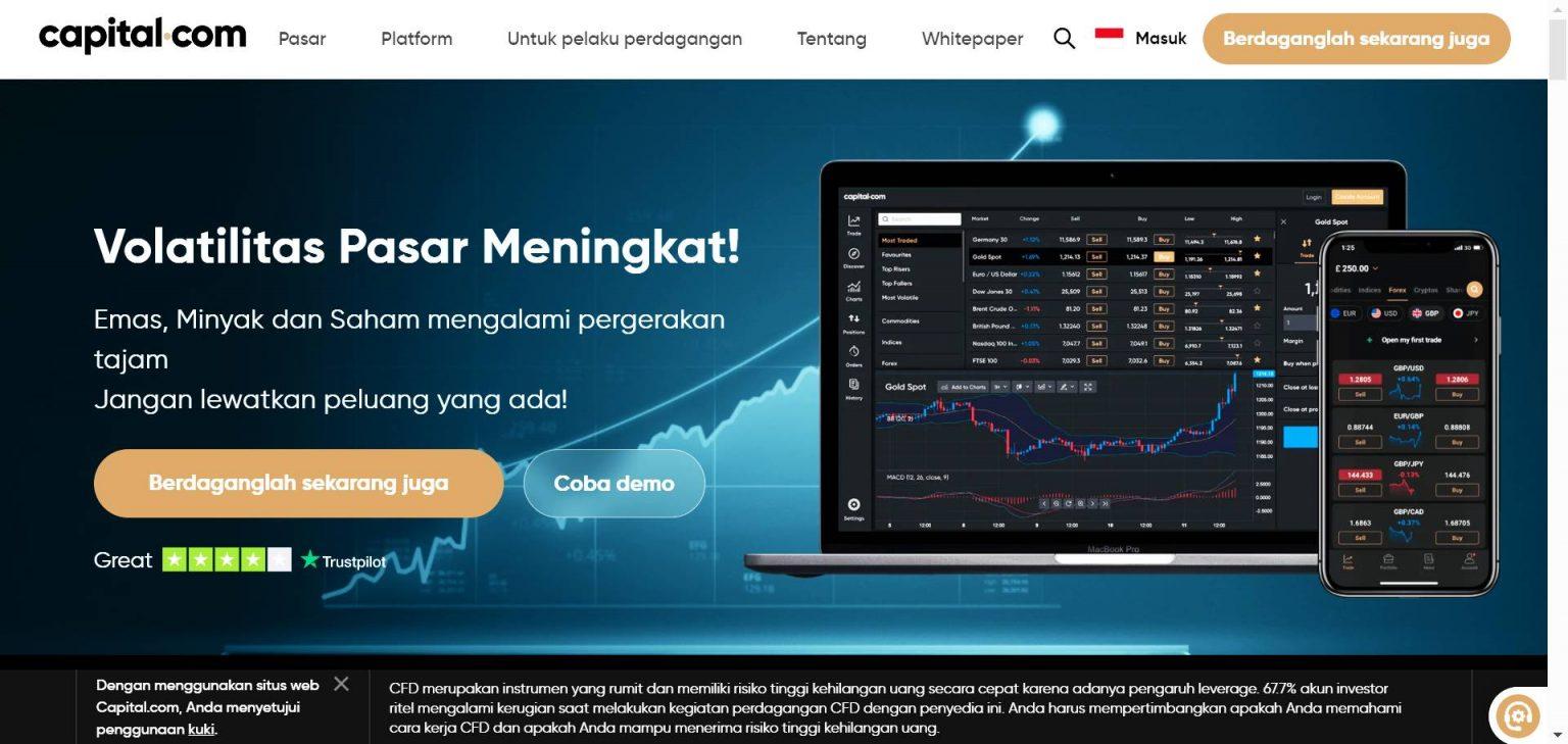 Aplikasi untuk trading saham dari Capital
