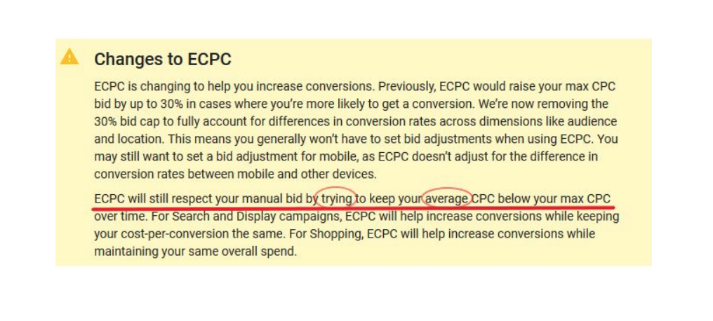 Google removes the bid cap on ECPC