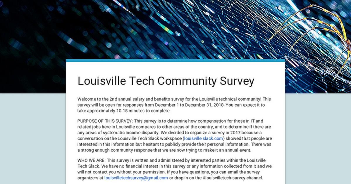 Louisville Tech Community Survey