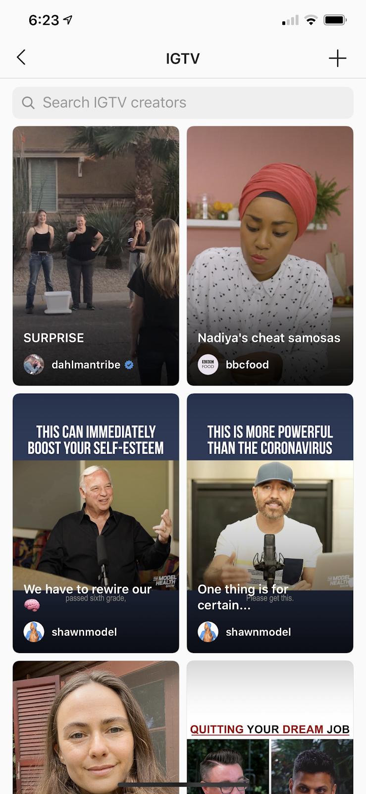IGTV feed