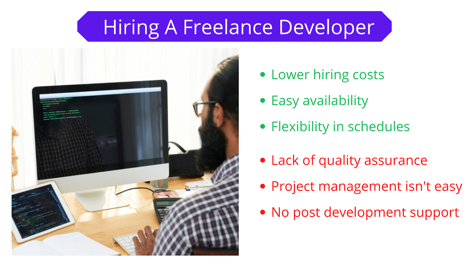 Hiring a freelance developer