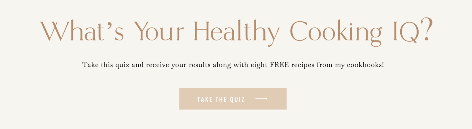what's your healthy cooking IQ quiz cover