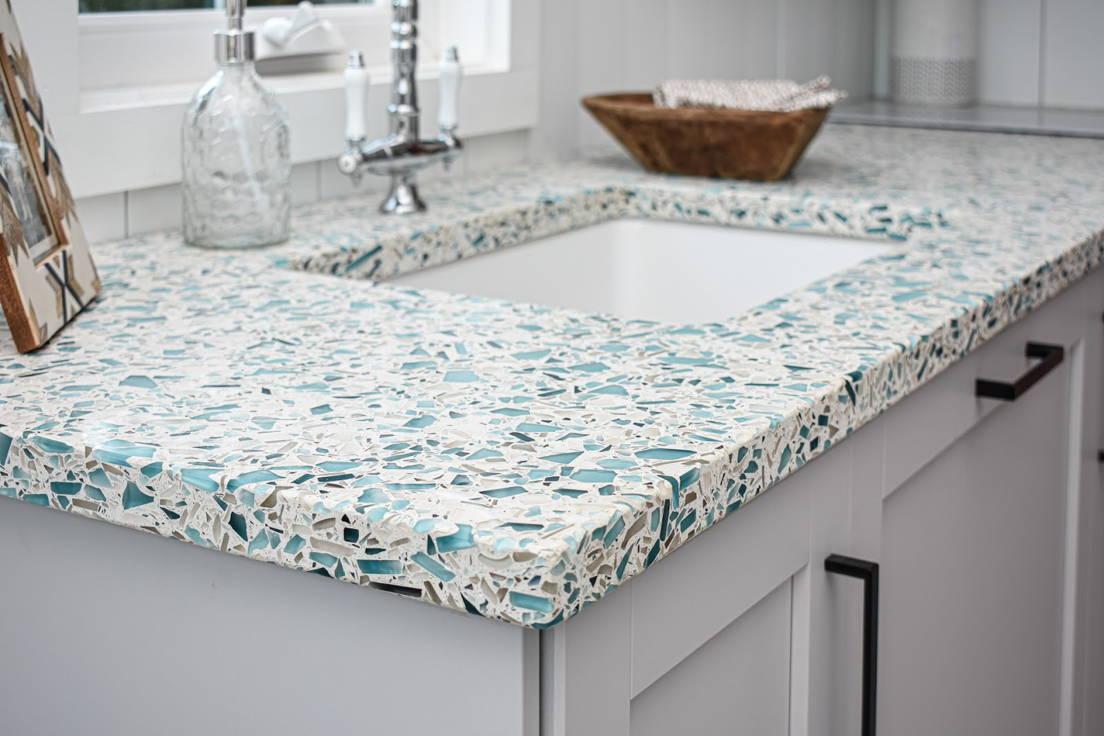 Vetrazzo-Floating-Blue-Recycled-Glass-Kitchen-Countertops-Tiny-Home