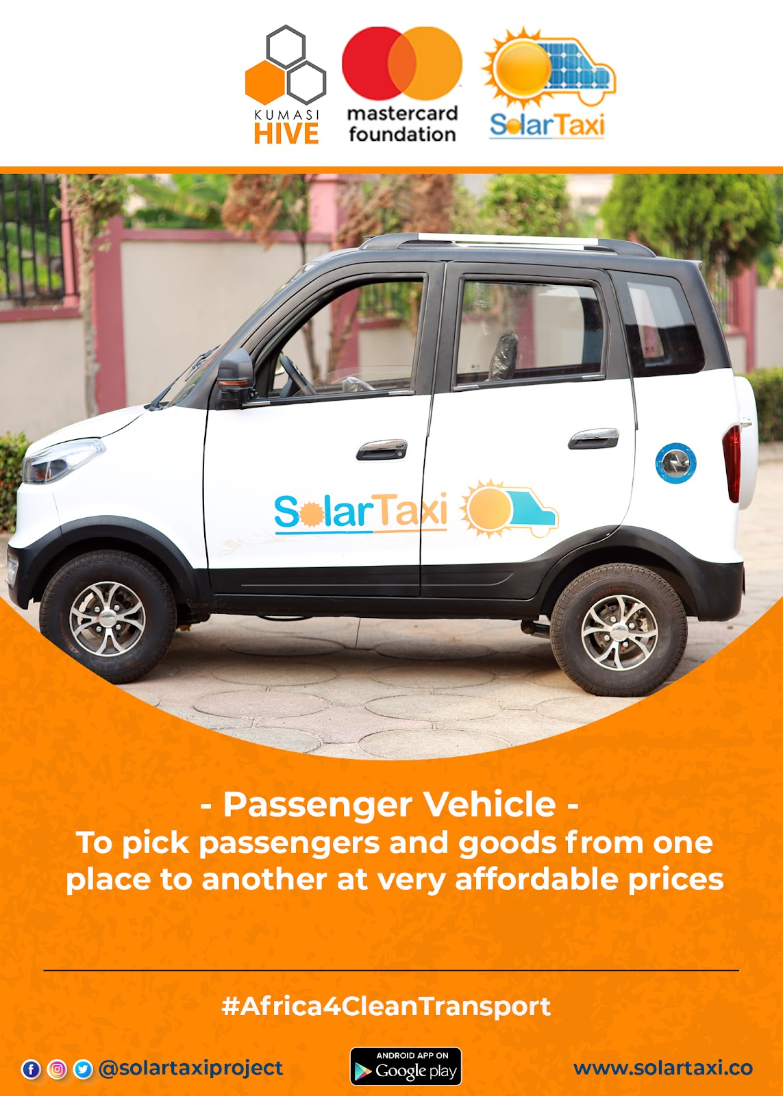 Kumasi Hive and Mastercard Foundation Passenger Vehicle image for SolarTaxi on gharage