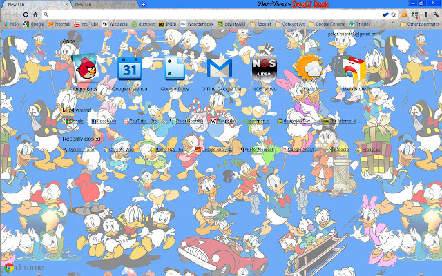 how to change the resolution of a google chrome theme
