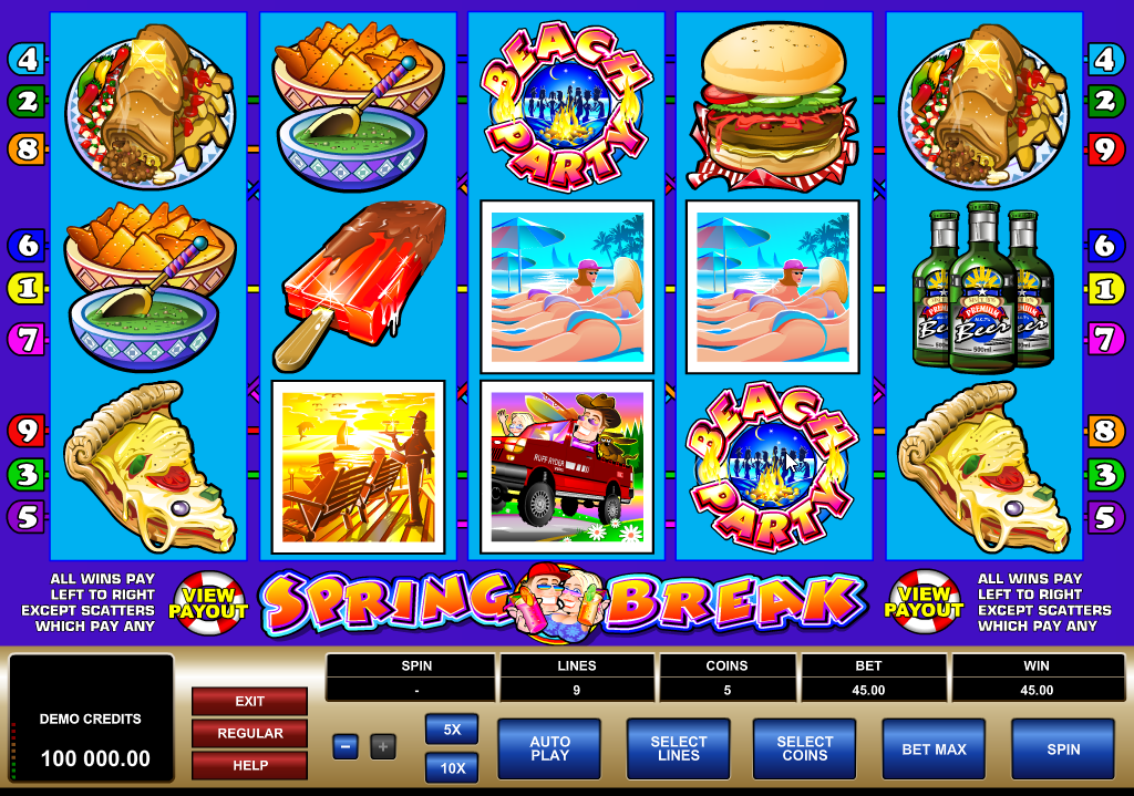 Spring Break Slots Game Review