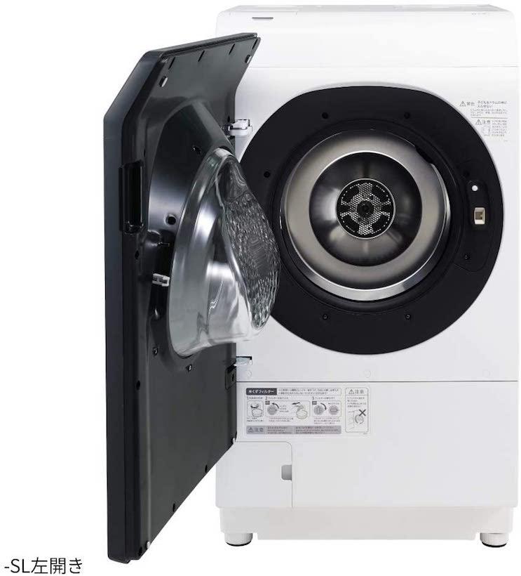 シャープドラム式洗濯機ESW113SL
