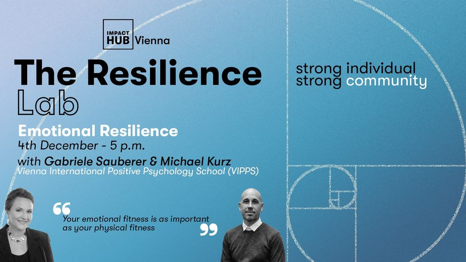 Event about building Emotional Resilience for individuals and communities
