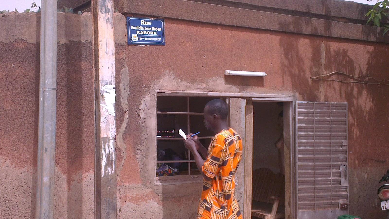 Seance de collecte de données dans la ville de Ouagadougou lors d'une cartopartie