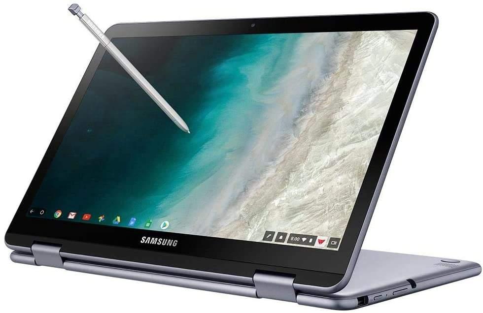 Imagem de notebook da marca Samsung e modelo  Chromebook Plus V2
