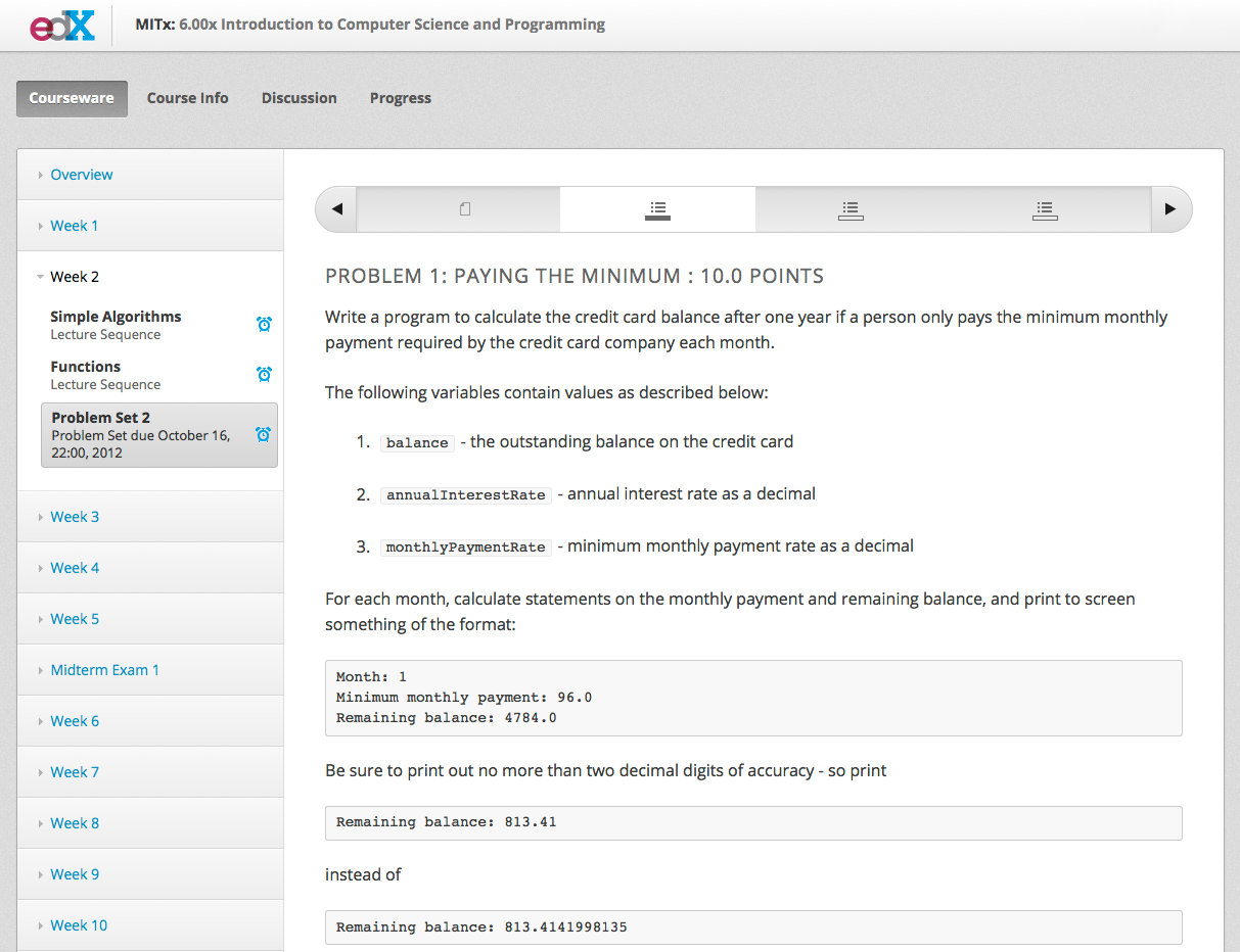 Open Edx introductory course settings