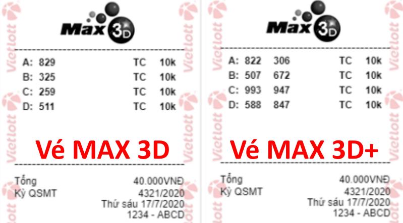 Vé Max 3D thường và Max 3D+