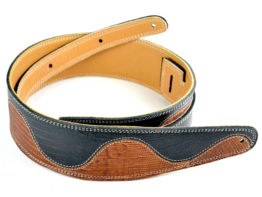 Serpentine Handmade Leather Guitar Strap