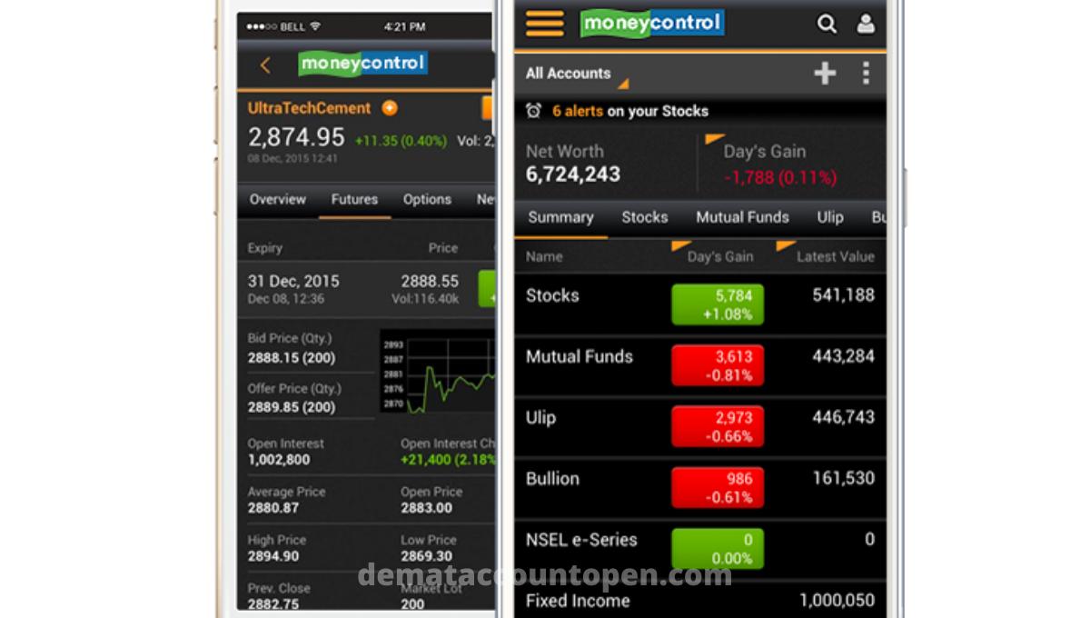 stock market app moneycontrol