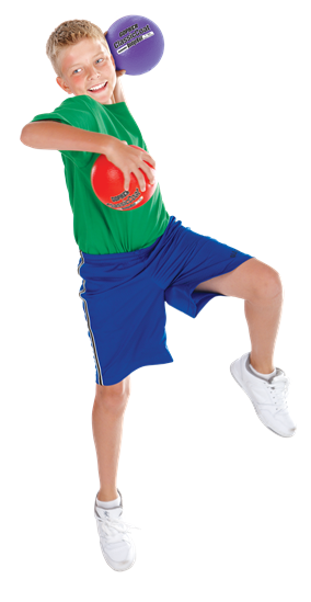 Boy playing foam ball activities