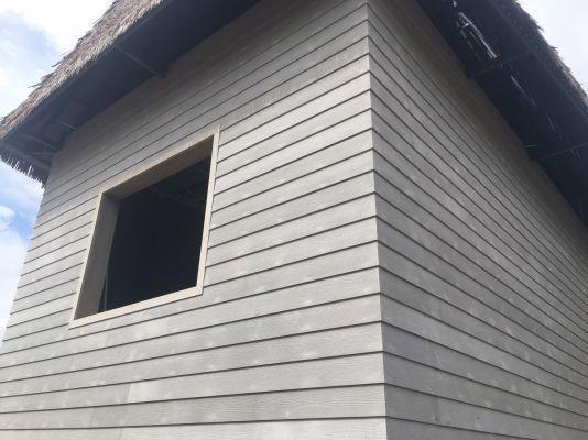 Công trình sử dụng thanh ốp tường gỗ xi măng