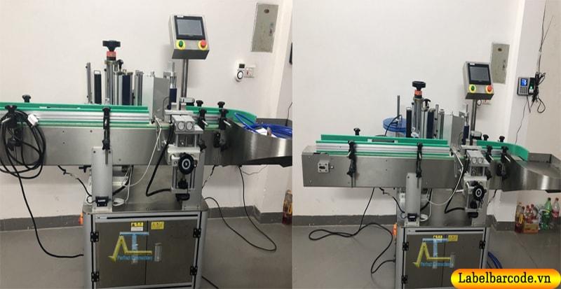máy dán nhãn chai tròn tự động 2 mặt có sẵn tại hà nội, dùng thử miễn phí