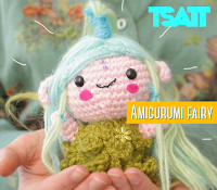 Crystal the amigurumi fairy. A premium pattern by The Sun and the Turtle