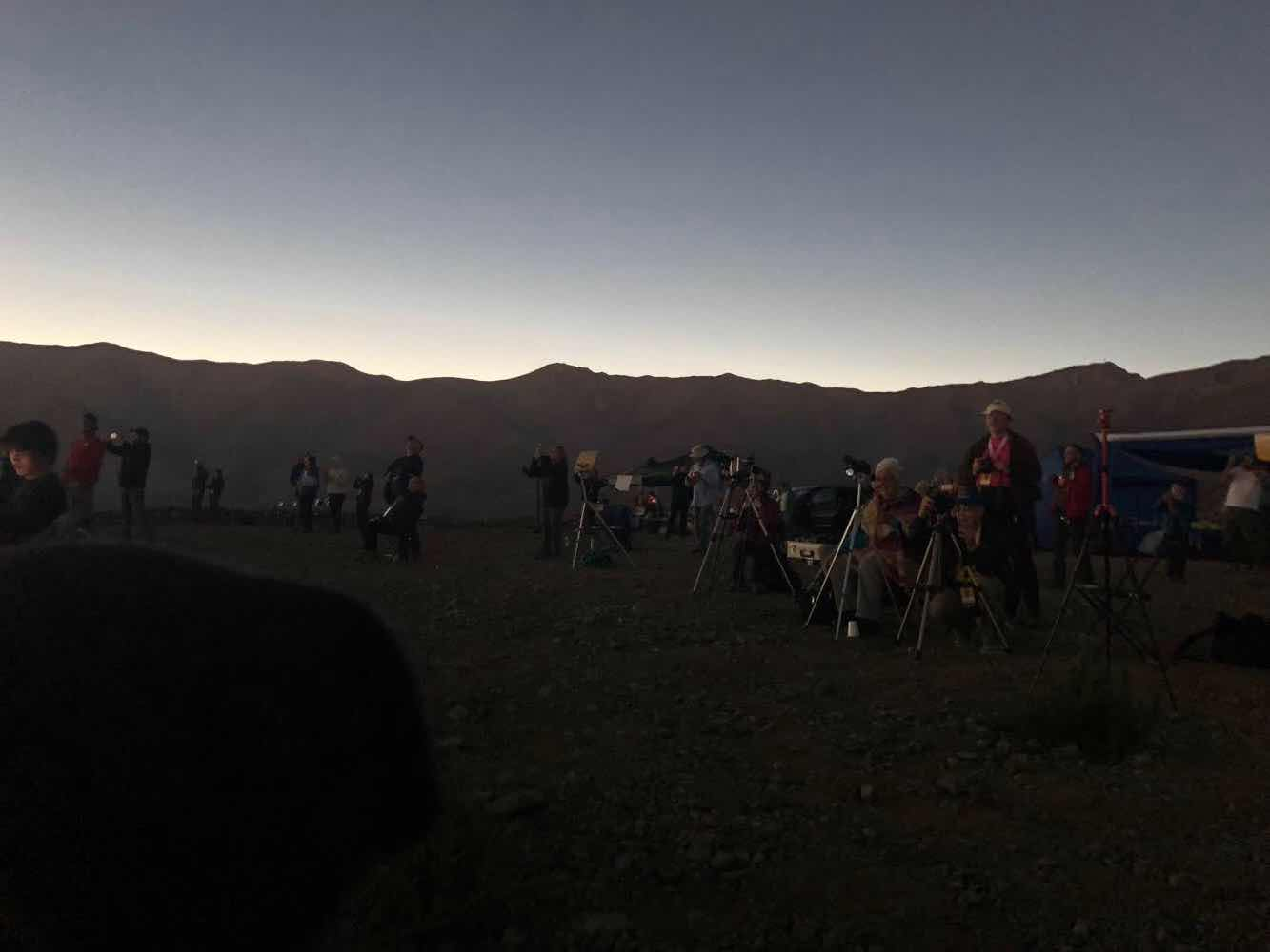 Comparison image showing local darkness during the eclipse at our viewing site (Source: Palmia Observatory)