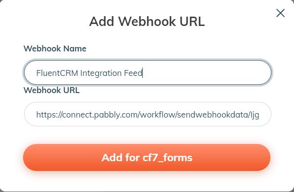 wp webhooks contact form 7 fluentcrm integration
