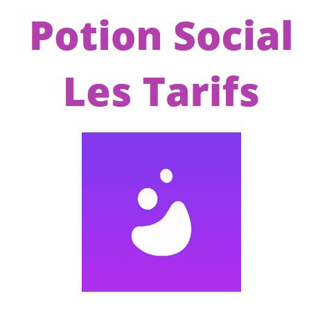 Les tarifs de Potion Social