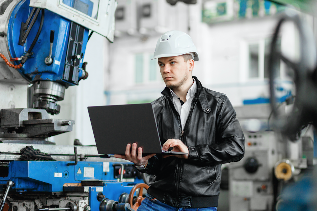 industrial engineer working in a factory