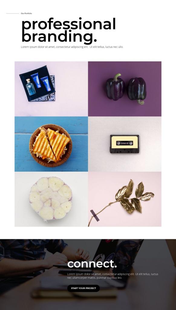 creative agency template for portfolio