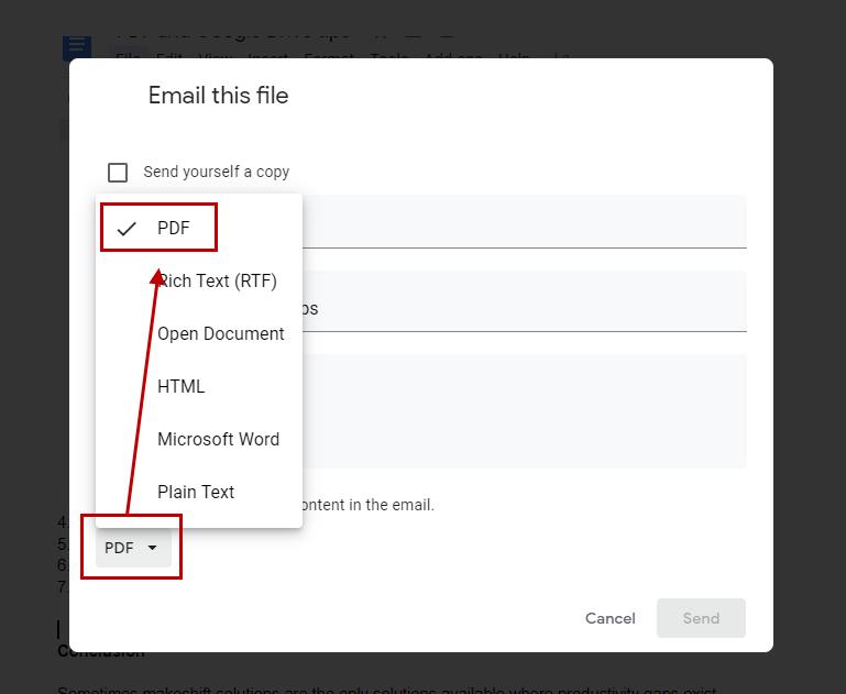 Sending PDF file via email
