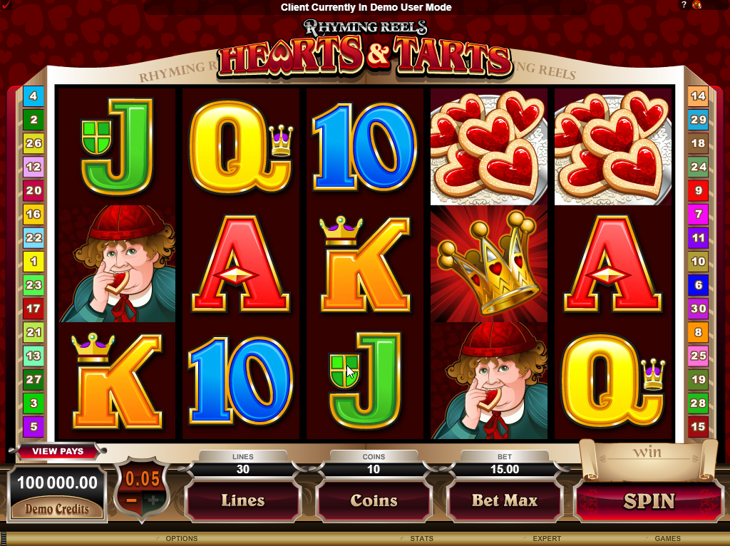 Hearts and Tarts Slots Machine Review