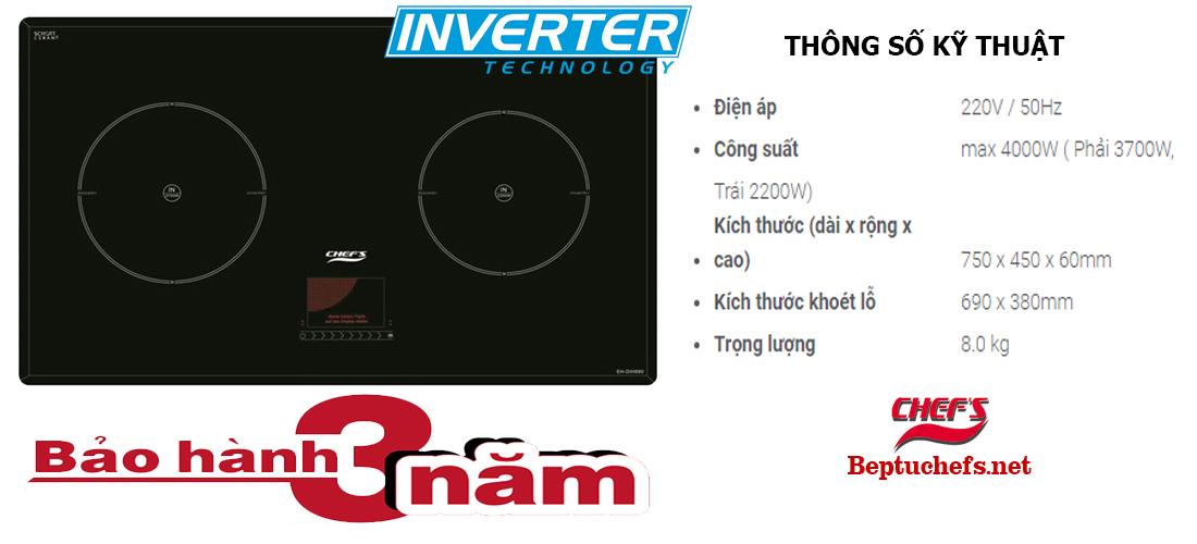 Chefs EH-DIH 890 ứng dụng công nghệ Inverter ưu việt