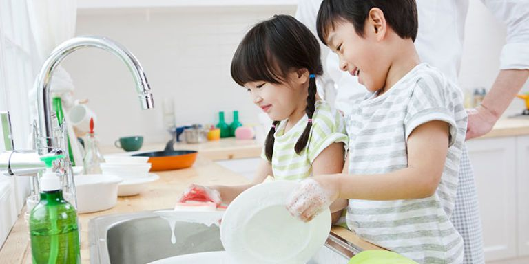 Image result for child doing chores