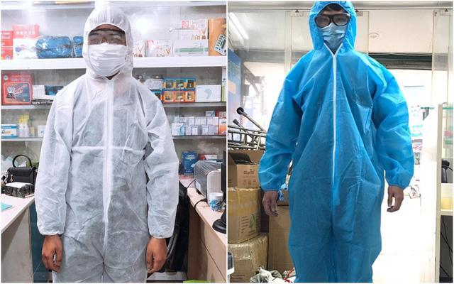 Quần áo chống dịch có 2 kích cỡ chính