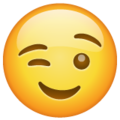 Winking Face on WhatsApp 2.21.11.17