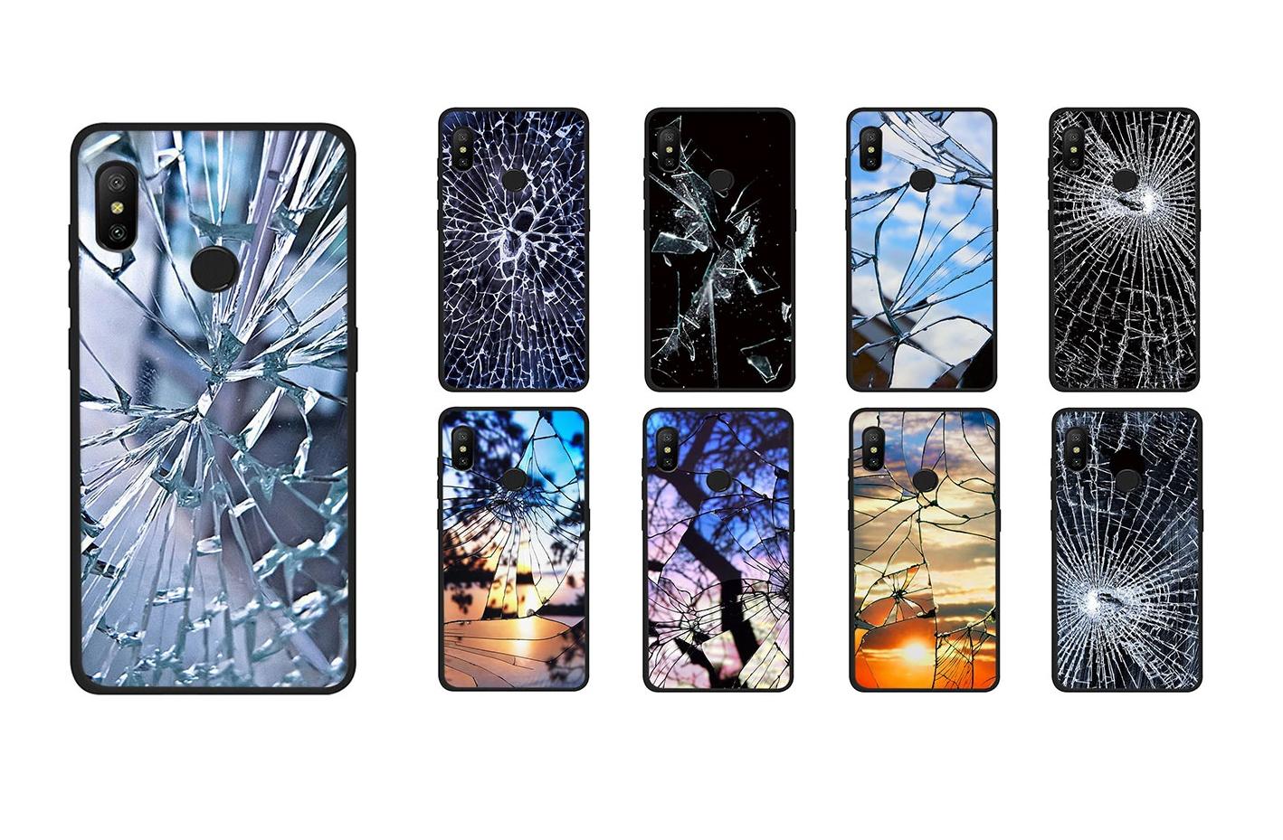 чехол для смартфона в виде битого стекла